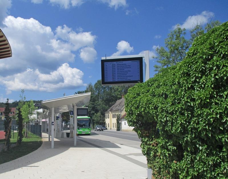 Elektrotechnische Umsetzung des Busbahnhofs in Weiz